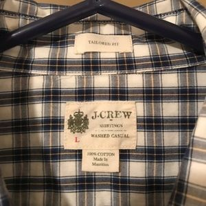 J. Crew Button Down Shirt Large Tailored Fit